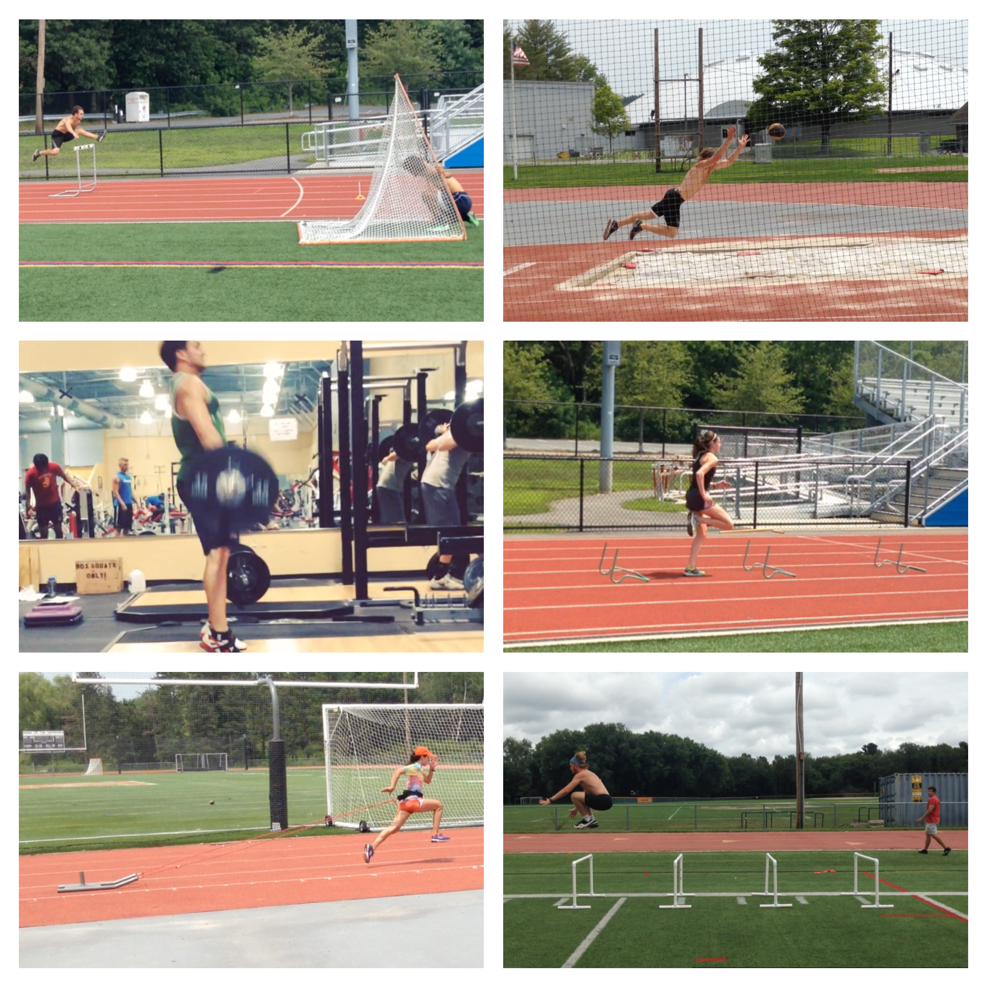 GPT Summer Track Club Collage